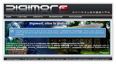Digimorf showroom website